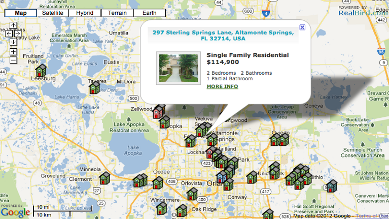 Featured Listings Map